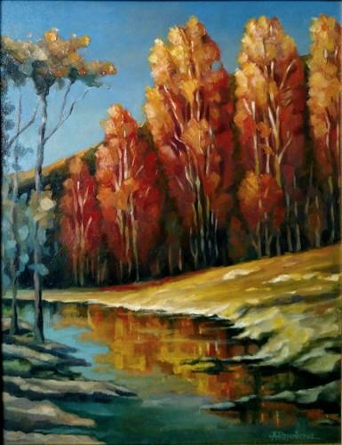 Autumn Afternoon by the Creek by Alex Rosenkreuz