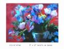 Iris & Tulips by Roseann Roth (thumbnail)