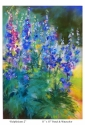 Delphiniums 2 by Roseanne Roth (thumbnail)
