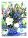 Blue Flowers & Peonies by Roseanne Roth (thumbnail)