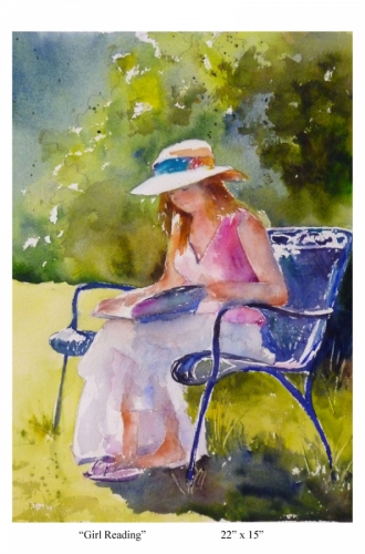 Girl Reading by Roseanne Roth (large view)