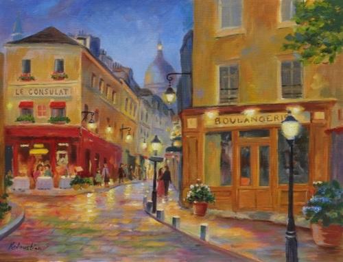 Monmartre Night by Rosanne Kaloustian