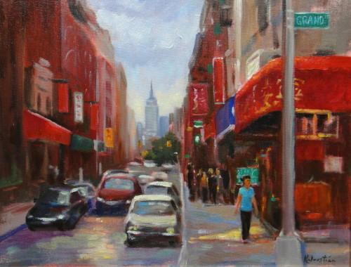 Colorful Grand Street by Rosanne Kaloustian