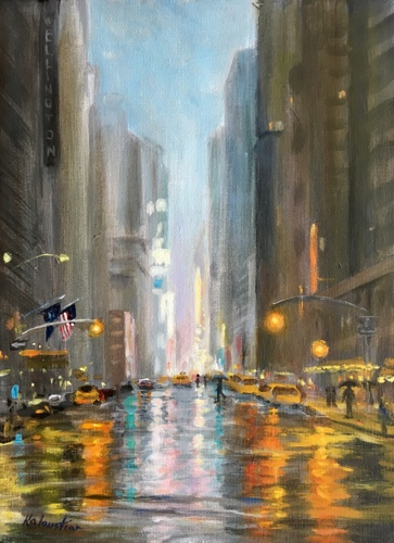 Rainy Night in NYC  by Rosanne Kaloustian