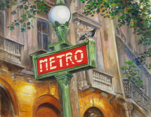 Paris Metro by Rosanne Kaloustian