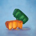 Roxanne Patruznick, art, realism, realistic, still life, painting, oil, print, narrative, humor, gummy bears, gummi bears, kitsch, sex, adult, whimsical, goofy, silly, alternative lifestyle, playful, fun, funny, absurd (thumbnail)