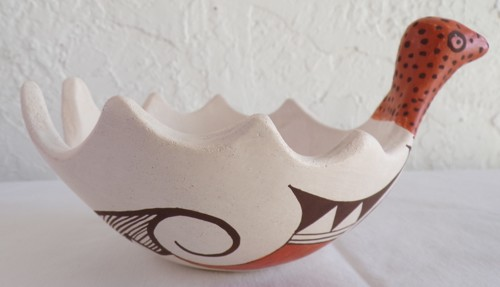 TMP Bird Bowl with Dragonflies