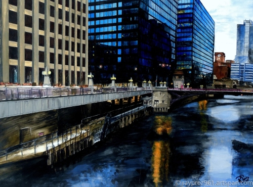 Sunday Morning in January, Chicago by Raymond Perez Art