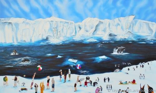 Party at Antarctic by Raymond Perez Art