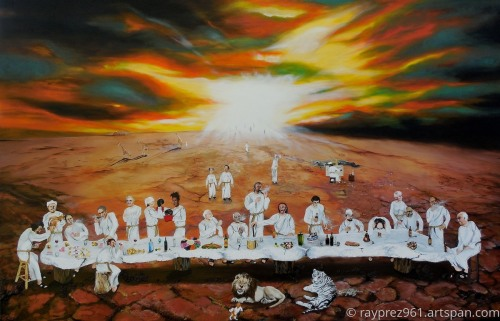 Never Ending Last Supper by Raymond Perez Art