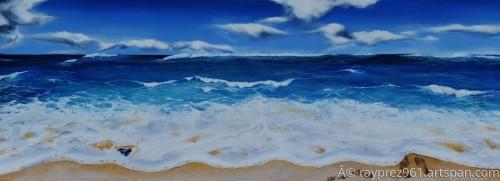 Blues and Foam by Raymond Perez Art