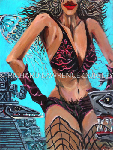 """ SEA DRAGONS ON BLACK BIKINI"