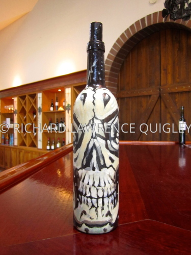 Sculptures and Hand painted Wine Bottles