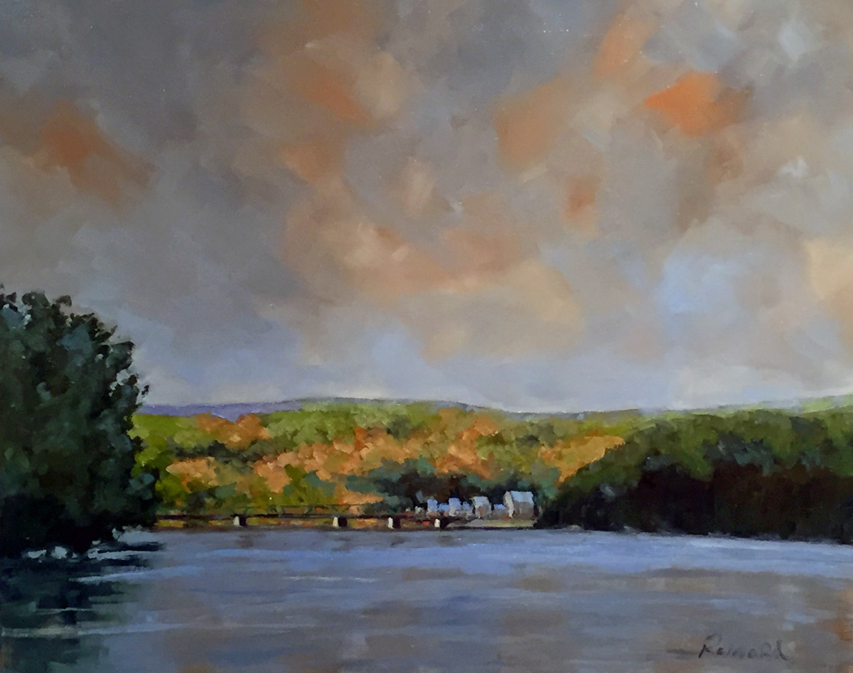Lambertville Light on the River (large view)
