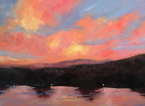 Bright Sky over Lambertville (large view)