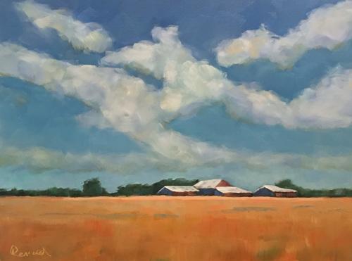 Farm Lighted Sky