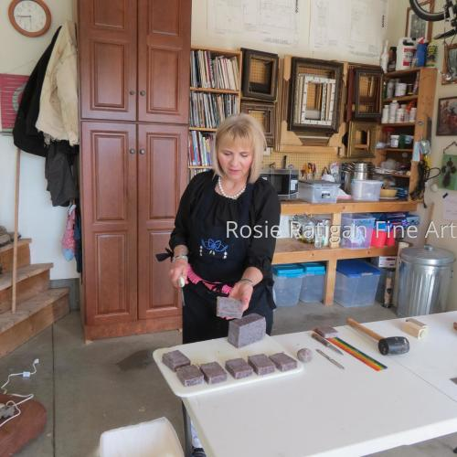 Rosie cutting 'Lander Lavender' Rose Mary Soap  (large view)