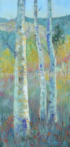 Aspens on the Nature Trail by Rosie Ratigan Fine Art
