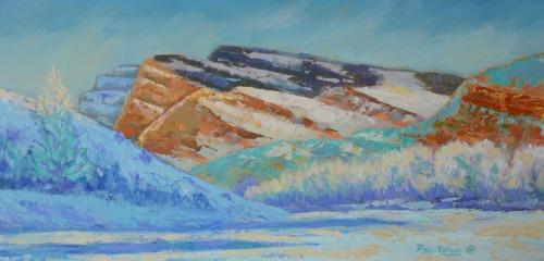 North Rim - North Fork Canyon by Rosie Ratigan Fine Art