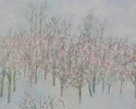 painting,  acrylic painting, tree, trees in winter   - Allegorical Painting