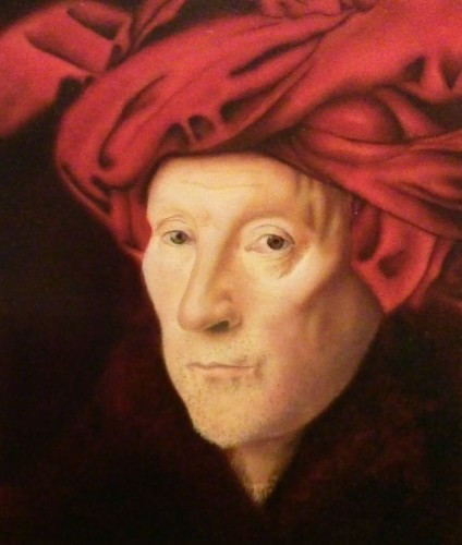 Man in a Red Turban (Enlarged Van Eyck Replica) (large view)