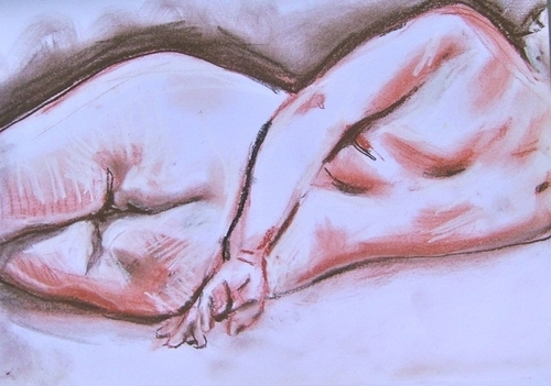heliconian life drawing reclining