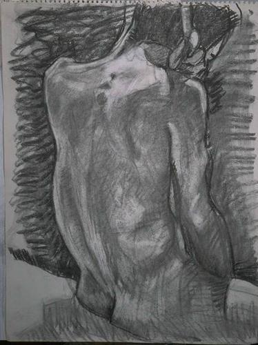 skinny male back