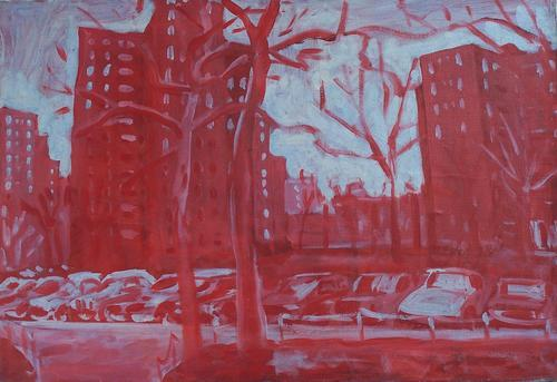 Stuyvesant Town in red