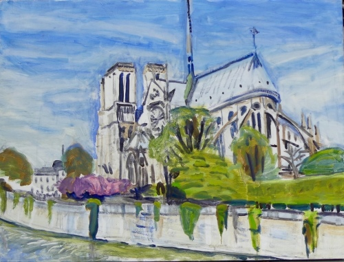 Notre Dame from behindd