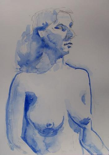 blue water colour nude, 2006