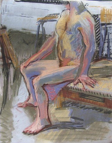 pastel male figure 2/4/06