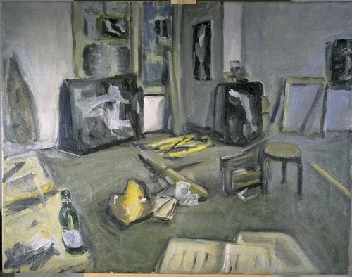 library studio, oil
