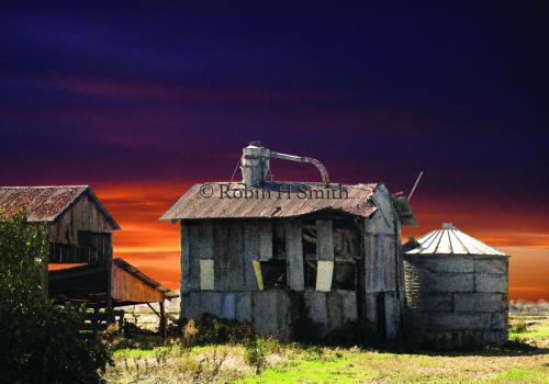 Barns & Silo, Stormy Sky