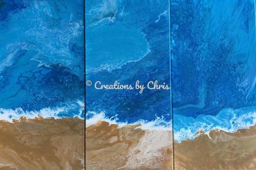 Ocean Breeze Triptych