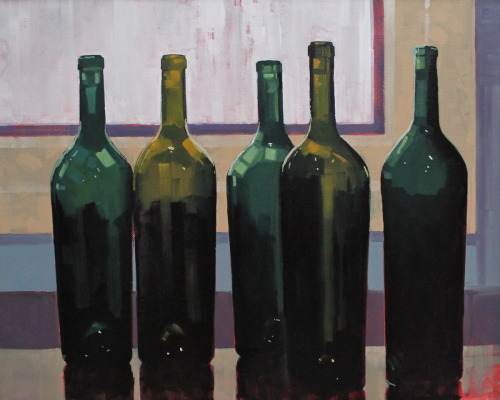 Five Bottles by Reid Thorpe Fine Art and Illustration