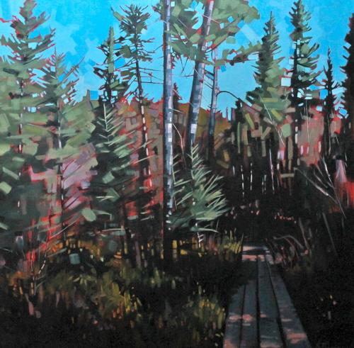Otter Lake Tamarack Bog by Reid Thorpe Fine Art and Illustration