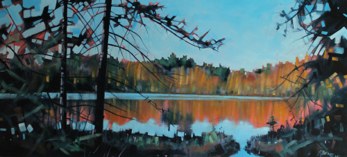 Tamarack Bog Lake Reflection