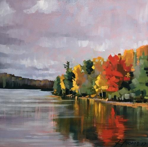 Seven Island Lake Autumn Reflection #2