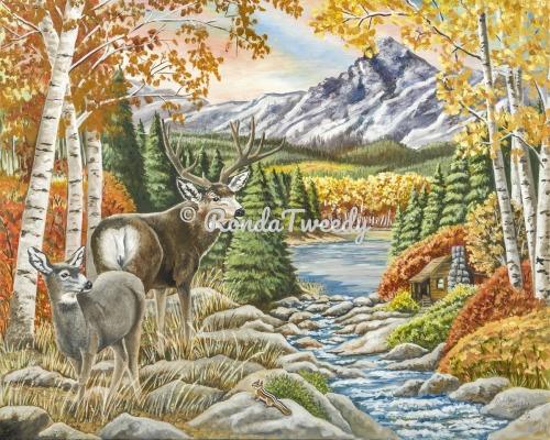 Mule Deer Fall Splendor by Ronda M. Tweedy