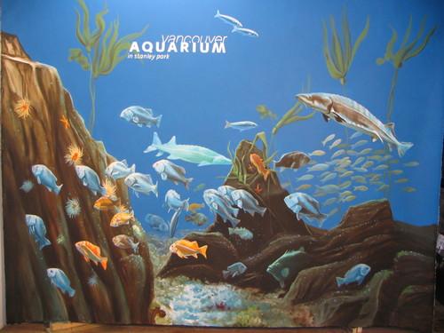 Aquarium Backdrop mural