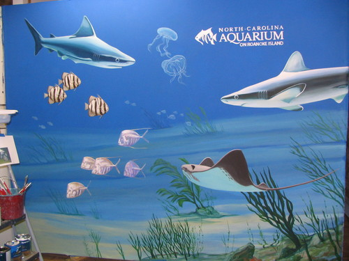 Carolina Aquarium Mural