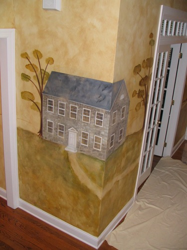 mural in private home- country primitive