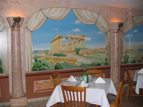 mural in a restaurant in NY