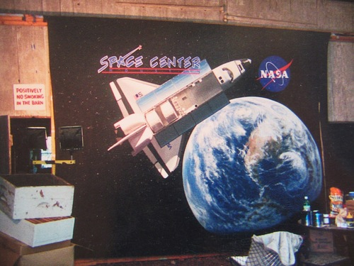 Houston Space Center mural