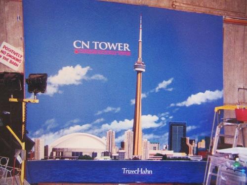 CN tower mural