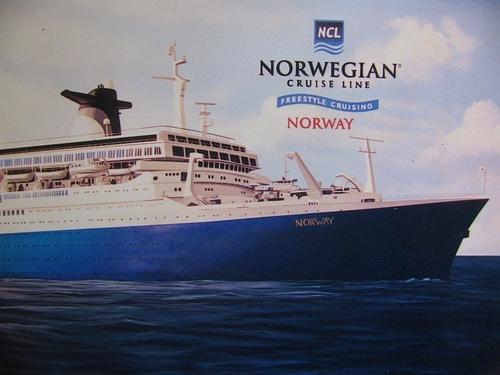Norwegian Cruise Lines mural