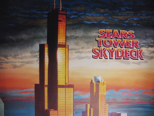 Sears Tower Skydeck mural