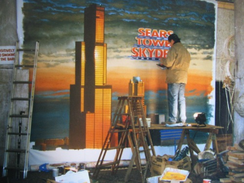 Sears Tower Skydeck mural