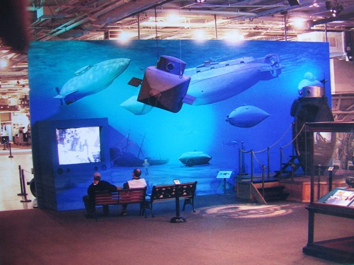 Intrepid submarine exhibit