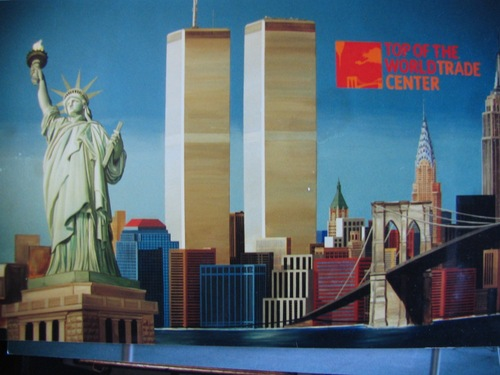 world trade center mural